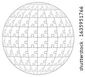 jigsaw puzzle ball template... | Shutterstock .eps vector #1635951766