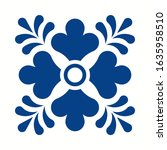 mexican talavera tile pattern... | Shutterstock .eps vector #1635958510
