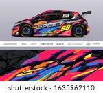 car wrap decal graphic vector... | Shutterstock .eps vector #1635962110