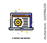 it support icon with laptop and ... | Shutterstock .eps vector #1635986230