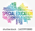 special education word cloud... | Shutterstock .eps vector #1635993880