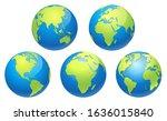 world globe earth map. vector... | Shutterstock .eps vector #1636015840