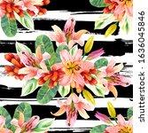 exotic flowers bunch watercolor ...   Shutterstock . vector #1636045846