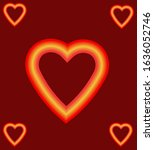 heart vector with background red