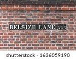 Belsize Lane Name Sign Near...