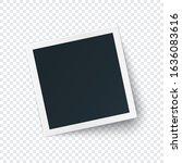 retro photo frame image... | Shutterstock .eps vector #1636083616