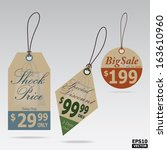 price tags vintage style design ... | Shutterstock .eps vector #163610960