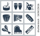 vector musical instruments ... | Shutterstock .eps vector #163612616