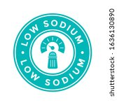 low sodium badge or logo vector ... | Shutterstock .eps vector #1636130890
