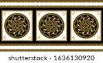 seamless border with golden... | Shutterstock .eps vector #1636130920