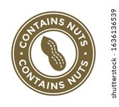 contains nuts free badge or... | Shutterstock .eps vector #1636136539