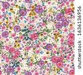 seamless folk pattern in small... | Shutterstock .eps vector #1636136956