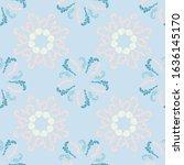 graphic branches elegant... | Shutterstock .eps vector #1636145170
