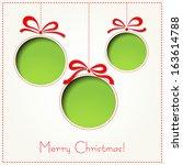 christmas card | Shutterstock .eps vector #163614788