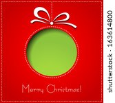 christmas card | Shutterstock .eps vector #163614800