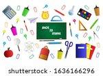 welcome back to school ... | Shutterstock .eps vector #1636166296