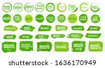 organic product stamp icon on... | Shutterstock .eps vector #1636170949