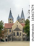 the church of our lady is 12th... | Shutterstock . vector #163617674