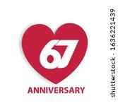 67 years anniversary logo...   Shutterstock .eps vector #1636221439