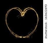 sparkler heat heart   Shutterstock . vector #163622693