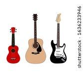 A Set Of Guitars. Acoustic...