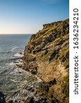 Rocky Coastline At Tintagel In...