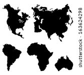 continents pictogram | Shutterstock .eps vector #163624298