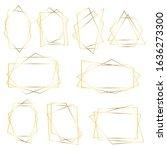 elegant geometric frames ... | Shutterstock .eps vector #1636273300