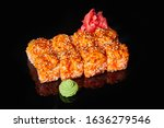 sushi rolls with fresh fish and ...   Shutterstock . vector #1636279546