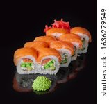 sushi rolls with fresh fish and ...   Shutterstock . vector #1636279549