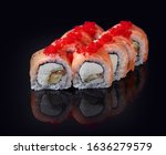 sushi rolls with fresh fish and ...   Shutterstock . vector #1636279579