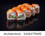 sushi rolls with fresh fish and ...   Shutterstock . vector #1636279600