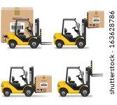 vector shipment icons set 20 | Shutterstock .eps vector #163628786