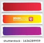 set of color vector brushstroke ...   Shutterstock .eps vector #1636289959