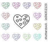 heart art multi color style...