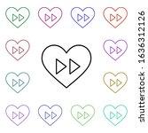 heart fast forward multi color...