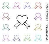 aids  heart multi color style...