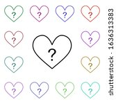 heart with question multi color ...