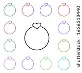 ring of love with heart multi...