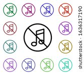 ban music multi color style...
