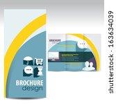 brochure design | Shutterstock .eps vector #163634039