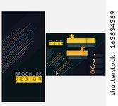 brochure template design | Shutterstock .eps vector #163634369