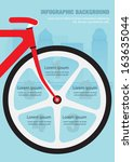 info graphic with bicycle... | Shutterstock .eps vector #163635044