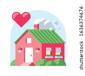 private house like vector... | Shutterstock .eps vector #1636374676