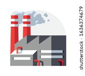 heavy industry factory vector... | Shutterstock .eps vector #1636374679