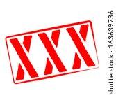stamp illustration of xxx | Shutterstock .eps vector #163639736