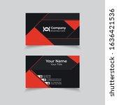 modern business card design...   Shutterstock .eps vector #1636421536