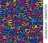 multicolor english alphabet... | Shutterstock .eps vector #163642763