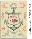 anchor label and design elements | Shutterstock .eps vector #163643774