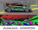 car decal design vector.... | Shutterstock .eps vector #1636439206